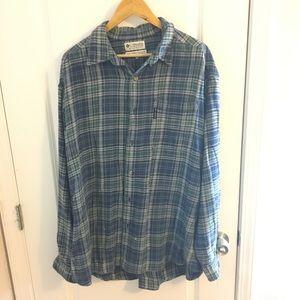 Columbia Plaid Long Sleeved Shirt. Sz X-Large